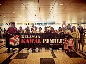 Kawal Pemilu at Changi Airport