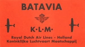 KLM Freight Label - 1930
