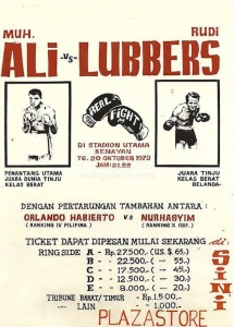 Poster for Ali vs Lubbers Fight - 1973