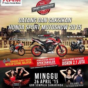 Amel Alvi nge-DJ di acara Honda Sport Motoshow 2015 di Samarinda