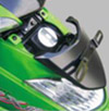 Kawasaki ZX 130 - Lubang pengisian bensin berada di depan tebeng