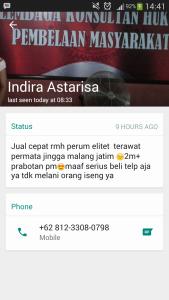 WhatsApp Indira Astarisa