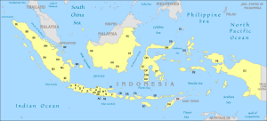 Indonesia License Plates Map