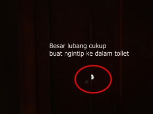 Kertas dicabut, bisa ngintip ke dalem toilet