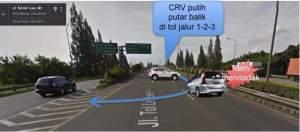 Untuk pengemudi CRV (semoga benar CRV) putih yang perilakunya seperti bukan manusia beradab! Kalau pesan ini sampai ke Anda, pengendara CRV putih, saya minta Anda periksa lagi kewarasan otak Anda!
