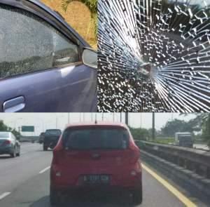 Daihatsu Xenia B 1125 KVI vs Kia Picanto B 1191 SZN.  Aksi Penembakan Pun Terjadi