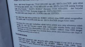 Nama Tyas Mirasih dan Shinta Bachir Disebut-Sebut Dalam Berita Acara Pemeriksaan