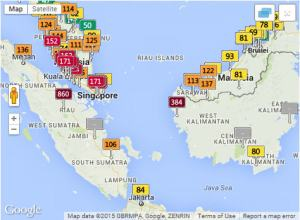 Regional haze map 13 September 2015 2