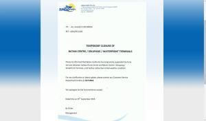 Sindo Ferry Press Release