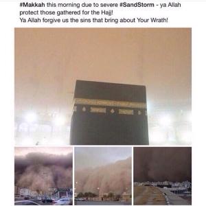 Badai Pasir di Jeddah dan Makkah. Kalau Allah Menghendaki Siang Pun Bisa Gelap Gulita