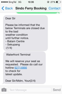 SMS dari Sindo Ferry