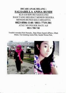 35 Jam Tidak Ada Kabar Banyak Orang Membantu Mencari Salsabilla Anisa Rusdi
