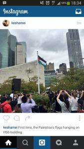 Pertama Dalam Sejarah Dunia Bendera Palestina Berkibar di PBB
