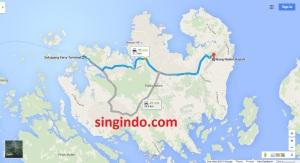 Jarak dari Bandara Hang Nadim ke 5 Ferry Terminal di Batam 5