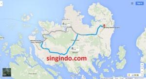 Jarak dari Bandara Hang Nadim ke 5 Ferry Terminal di Batam 6
