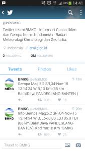 Gempa Berkekuatan 5,2 SR Berpusat di Pandeglang Ikut Menggoyang Jakarta