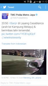 Jalan Layang Bisa Tergenang Air Setinggi 30cm... Cuma Ada di Indonesia Gan!