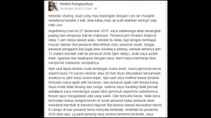 Curhat Kartini Kongsyahyu dan Tanggapan dari Lion Air 2