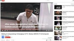Aksi Pencuri Bermodus Servis Televisi Terekam Kamera CCTV