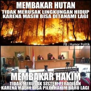 Argumen Hakim Bakar Hutan Tidak Merusak Lingkungan Dikecam Netizen 2