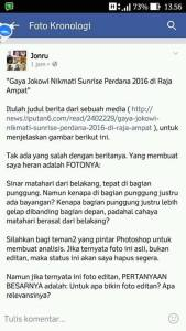Fotografer Istana Akan Tuntut Jonru 1