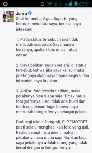 Fotografer Istana Akan Tuntut Jonru 3