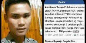 Gara-gara Status FB Menyindir TNI, Anggota Polres Toraja Dihukum