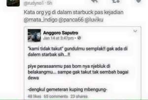 Kata Orang Didalam Starbucks Kami Tidak Takut Gundulmu Semplak!!