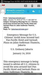 Ada ISIS Di Bom Sarinah, Kedutaan AS Telah Himbau Warganya Hindari Thamrin Sejak Pagi
