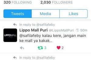 Ngatain Pengunjung Kere, Lippo Mall Puri Dibully Netizen