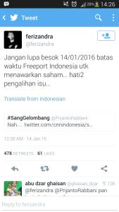 Ada yang Kaitkan Ledakan Thamrin dengan Freeport, Ini Kata Sudirman Said