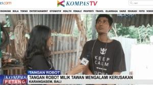 """""""Robot"""" Bali Milik Tawan Rusak Karena Ketetesan Air Hujan"""