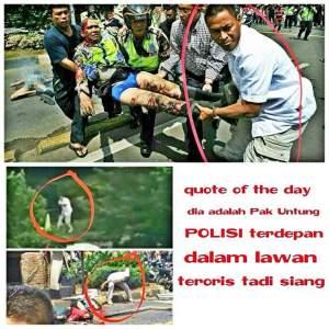 Pria Berbaju Putih Di Teror Bom Thamrin Ternyata AKBP Untung Sangaji