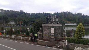 Patung Arjuna di Purwakarta Dibakar Orang Tak Dikenal