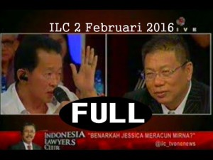 Ayah Mirna vs Pengacara Jessica Head to Head di Indonesia Lawyers Club TV One