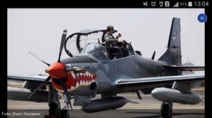 Pesawat Super Tucano Jatuh di Malang