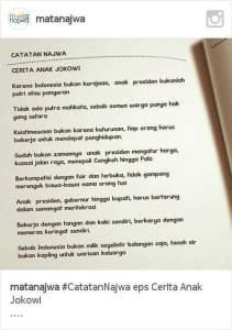 Catatan Najwa di Akhir Episode Cerita Anak Jokowi
