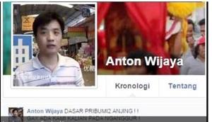 Tulis Kalimat Bernuansa SARA, Akun Facebook Anton Wijaya Dikecam Netizen