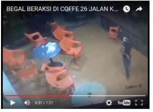 VIDEO: CCTV Rekam Aksi Begal Di Kedai Kopi Kota Makassar