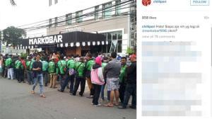 Beginilah Antrian Martabak Markobar Milik Anak Presiden Jokowi Di Cikini Jakarta