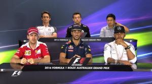 Saat Rio Haryanto Konferensi Pers Bersama Para Bintang F1 1