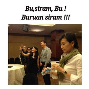 Begini Sabarnya Veronica Tan Saat Lihat Ahok Selfie dengan Dian Sastro