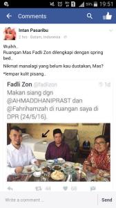 Ruang Kerja Yang Mulia Fadli Zon di DPR Nyaman Banget. Ada Kasurnya!