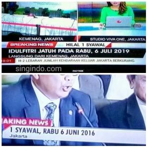 Media Saling Berseberangan Dalam Memberitakan Pengumuman 1 Syawal 1437 H