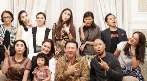 Ahok Kedatangan Maia Estianty, Sandra Dewi dan Dewi Persik di Rumah Dinas Gubernur