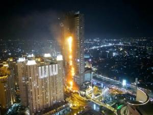Penyebab Terbakarnya Gedung NEO SOHO Tanjung Duren Jakarta Barat
